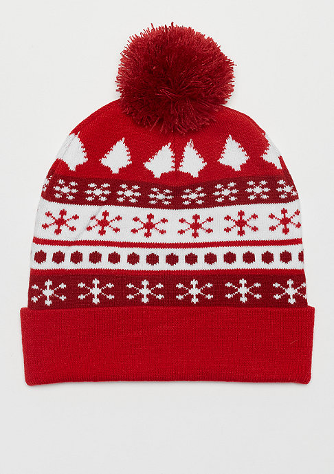 Urban Classics Christmas Beanie Dots red/white