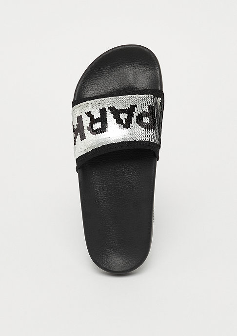 IVY PARK SEQUIN SLIDER metallic