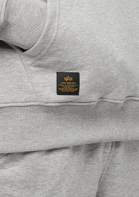 Alpha Industries RFB Inlay Hoody grey heather