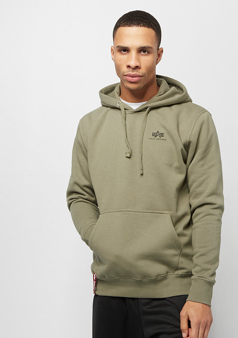 Alpha Industries Basic Hoody Small Logo olive