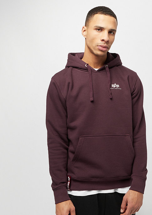 Alpha Industries Basic Small Logo deep maroon