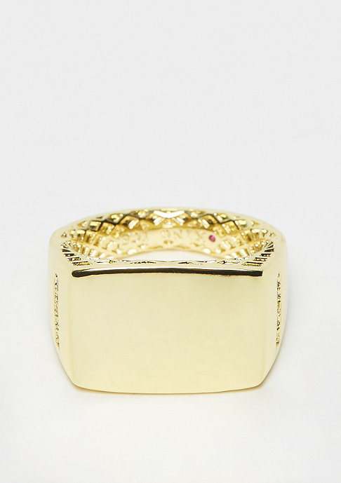 King Ice Minimalist Ring - size L Gold plated