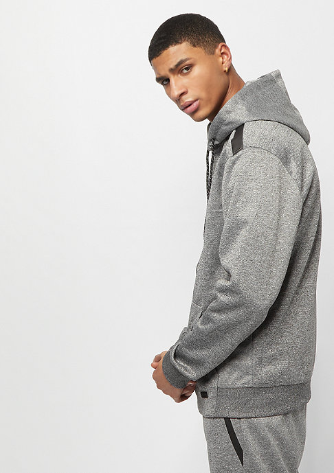 Southpole MARLED TECH FLEECE FULL ZIP HOODIE MARLED GREY