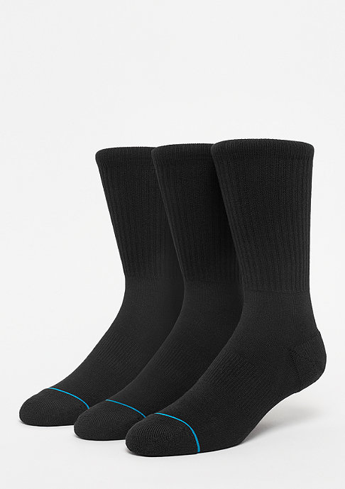 Stance Uncommon Solids Icon 3 Pack black