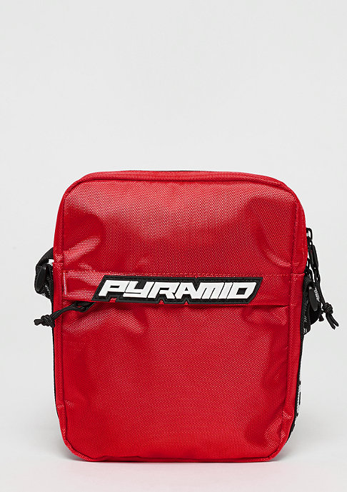 Black Pyramid Shoulder bag red