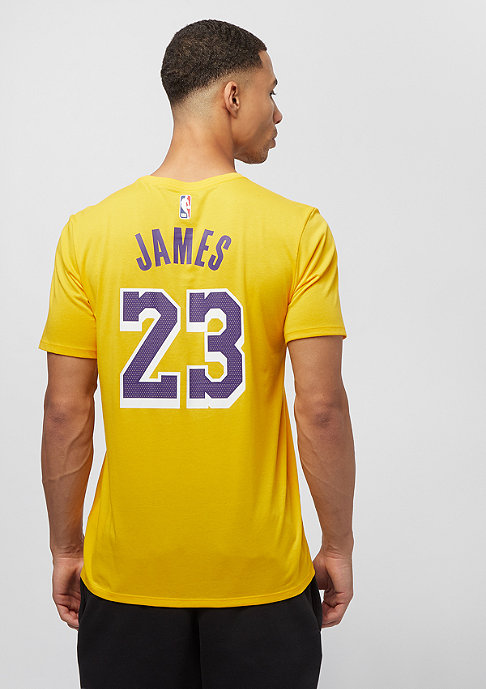 NIKE NBA LA Lakers Lebron James Dry yellow
