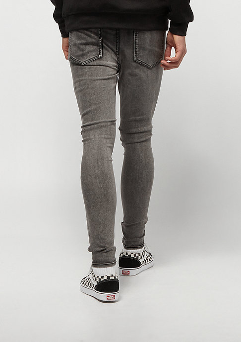 Sixth June Denim With Waffle Inside Patch grey
