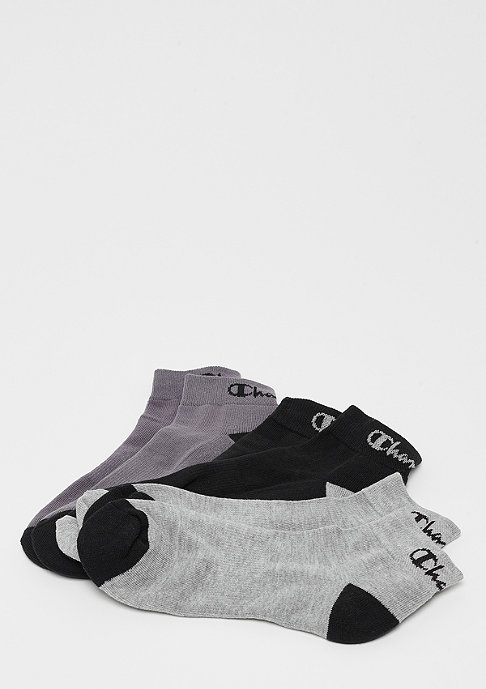 Champion 3x Ankle socks performance white colored black/red/blue