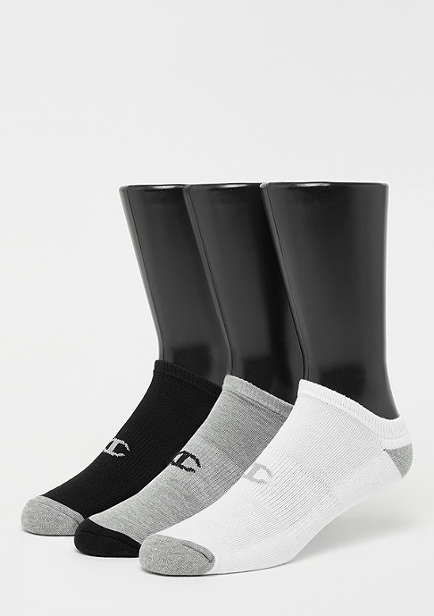 Champion 3x No Show socks performance white/black/grey