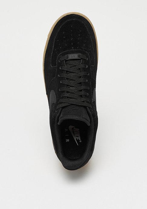 NIKE Air Force 1 07 LV8 Suede black/black/gum red