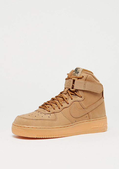 NIKE Air Force 1 High WB GS flax/outdoor green/gum light brown