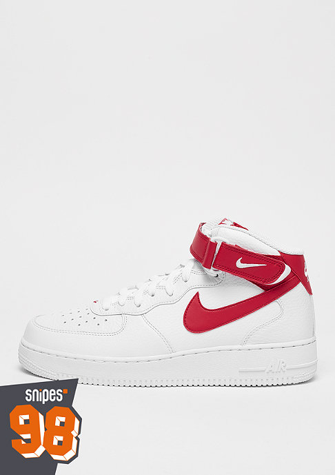 NIKE Air Force 1 Mid 07 white/university red/white