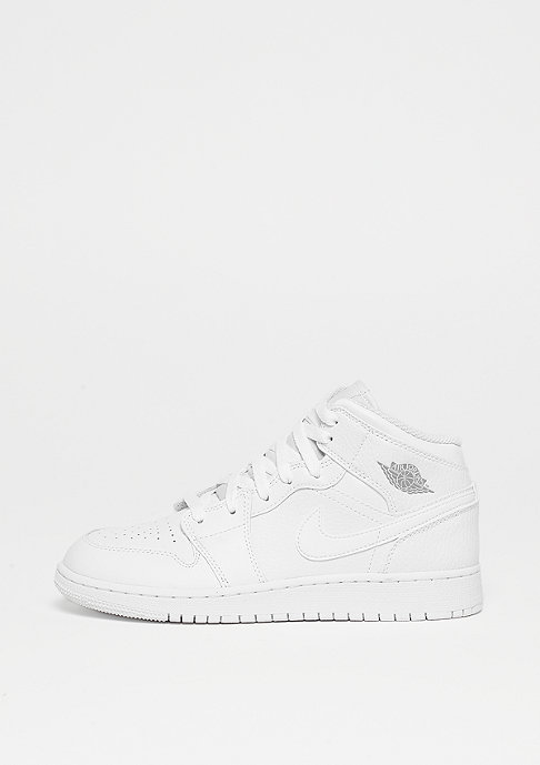 Jordan Air Jordan 1 Mid (GS) white/pure platinum/white