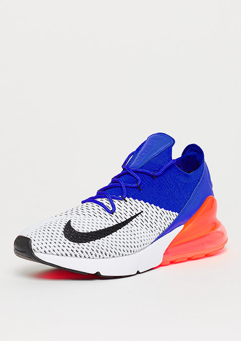 NIKE Air Max 270 Flyknit white/black/racer blue/total crimson