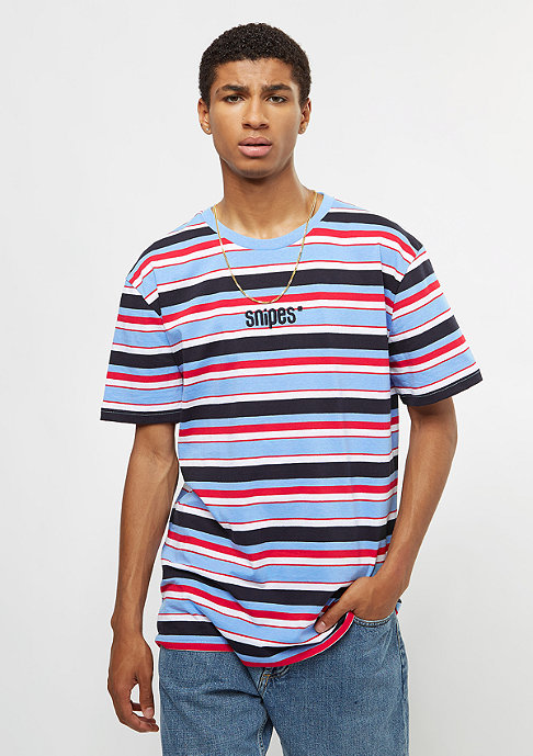 SNIPES Basic Logo Stripes light blue/red/white/navy