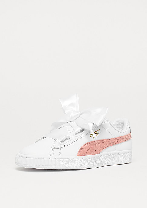 Puma Basket Heart L white coral/cloud green/gables gold