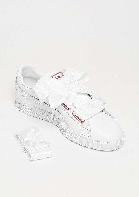 Puma Basket Heart Leather puma white-rose gold