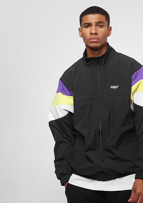 SNIPES Block Windbreaker black/purple/white/lime