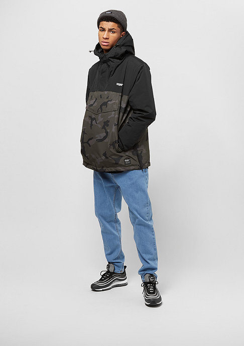 SNIPES Block Windbreaker black/stone camo