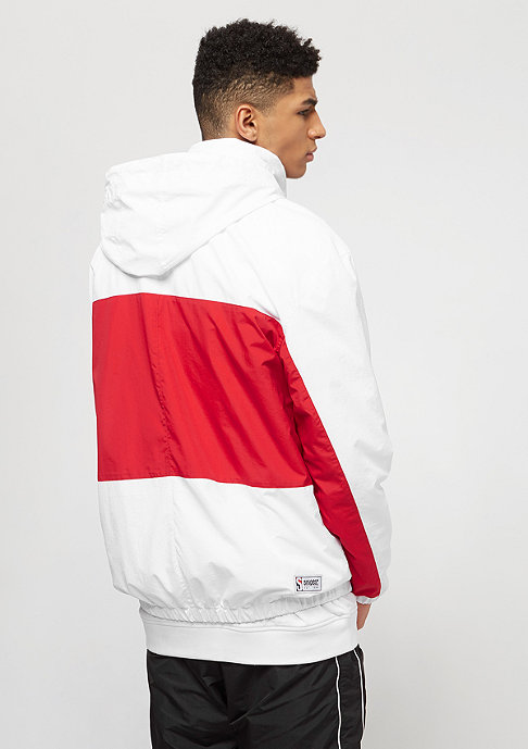 SNIPES Block Windbreaker white/red