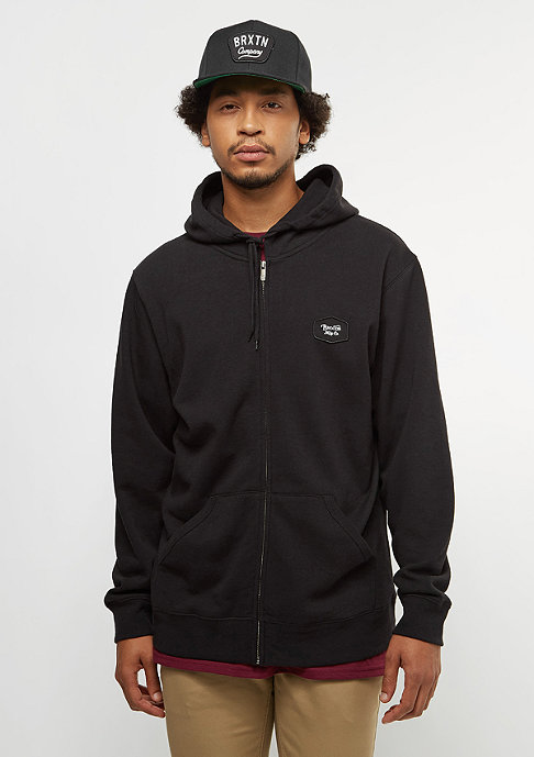 Brixton Trig Zip Hood Fleece black