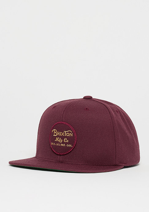 Brixton Wheeler maroon