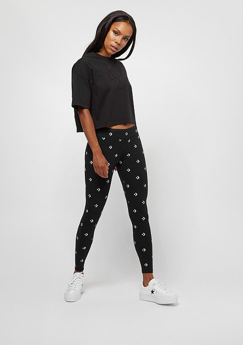 Converse Burnout Star Chevron Cropped Boxy black