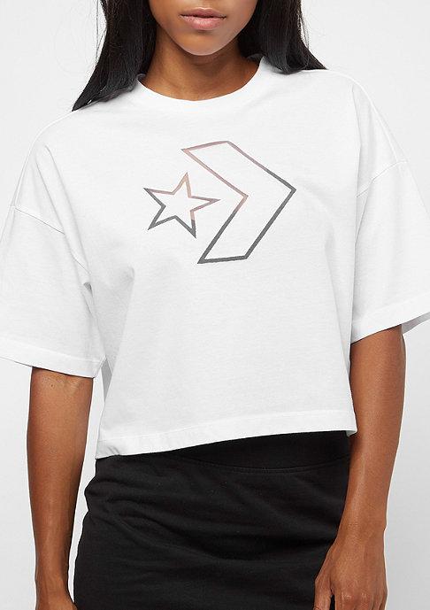 Converse Burnout Star Chevron Cropped Boxy white