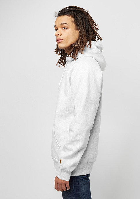 Carhartt WIP Hooded-Sweatshirt Chase ash heather/gold