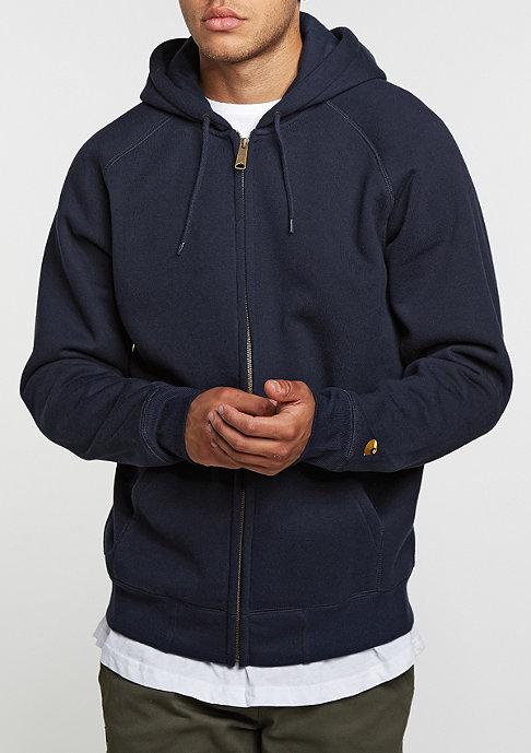 Carhartt WIP Hooded-Zipper Chase navy