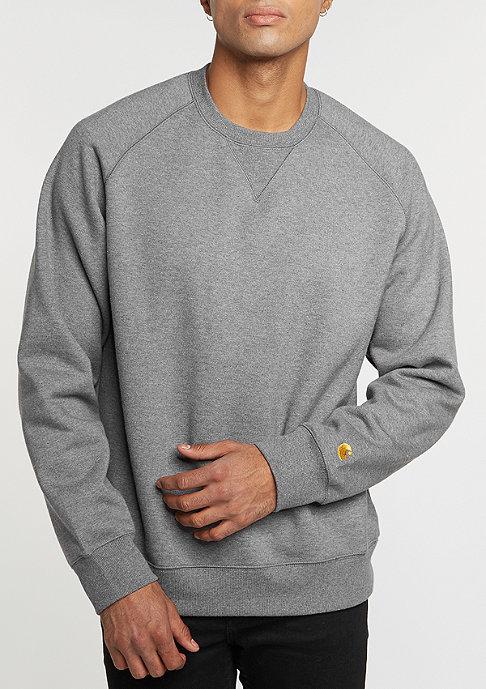 Carhartt WIP Sweatshirt Chase dark grey heather