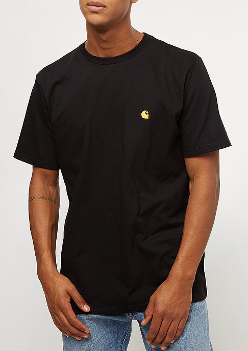 Carhartt WIP T-Shirt Chase black/gold