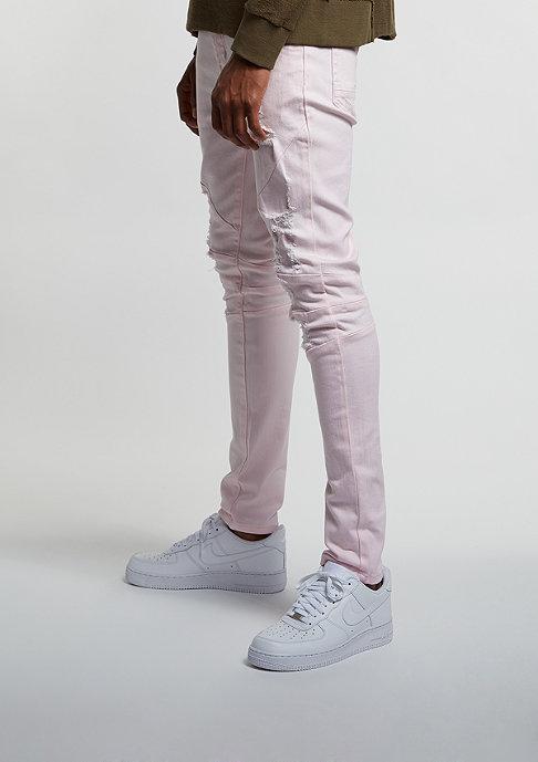 Cayler & Sons Jeans Paneled Distressed Denim Pants light pink