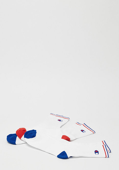 Champion Y0829 X3 Crew socks performance 8LX White logo blue/red