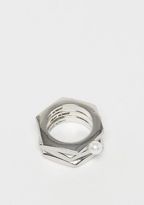 Cheap Monday Screw Rings rhodium
