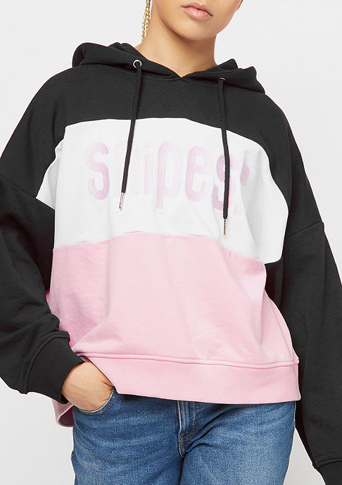 SNIPES Chest Block Logo black/white/rose