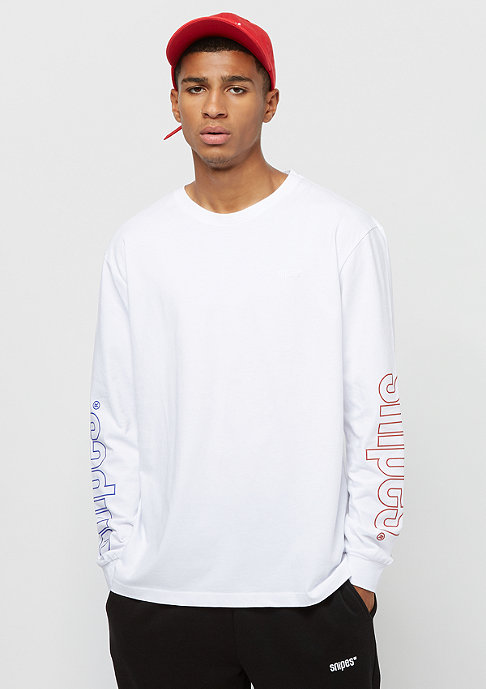 SNIPES Chest Logo Longsleeve white