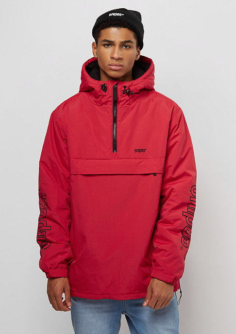 SNIPES Chest Logo Windbreaker red