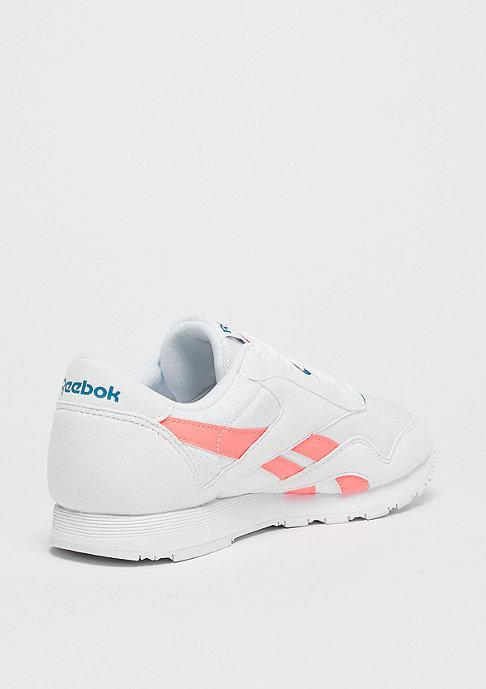 Reebok Classic Leather Nylon retro-white/digital pink/instince blue
