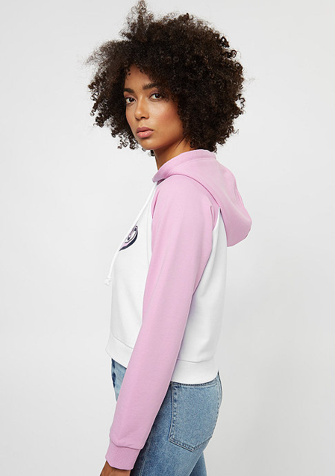 SNIPES College Hoody white/pink