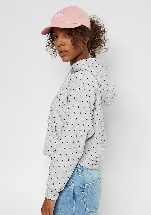 SNIPES Cropped Hoody Dots light heather grey