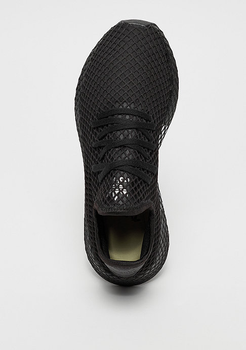 adidas DEERUPT RUNNER black/black/white