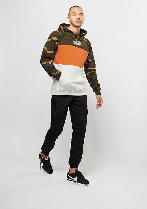 SNIPES Hooded-Sweatshirt Block camo/orange posicle/moonbeam