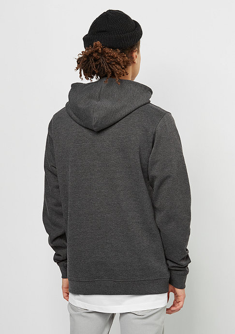 SNIPES Hooded-Sweatshirt Small Box Logo charcoal/white