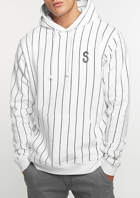 SNIPES Hooded-Sweatshirt Pinstripe white/white print