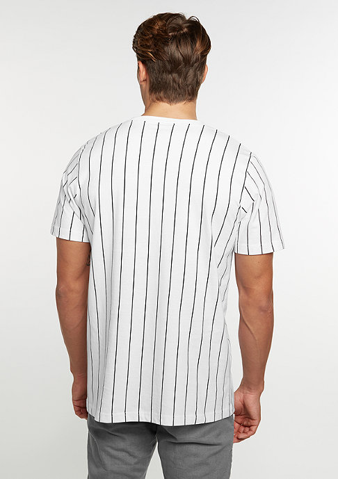SNIPES T-Shirt Pinstripe white/black