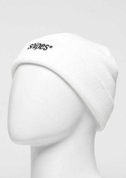 SNIPES Beanie Small Logo white/black