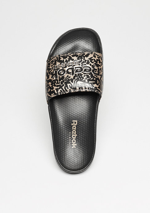 Reebok Badeschlappe Core Slide Archive black/gold