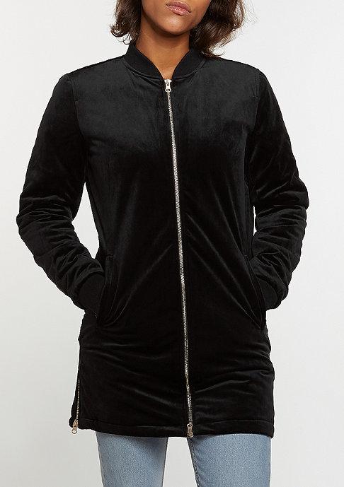 Urban Classics Übergangsjacke Long Velvet black