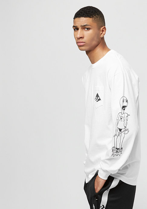 Emerica Toy Machine Long Sleeve Pocket white